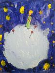 Le Petit Prince, Jules 4 ans et demi (acrylique sur carton toilé)