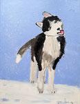 Acrylique sur toile de Roxane, 9 ans