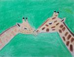Girafe, pastel de Hugo, 8 ans