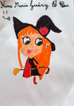 Dessin aux feutres de Nina, 7,5 ans