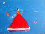 """""""Partir en voyage"""", Gwenaëlle 7 ans et demi (acrylique sur toile)"""