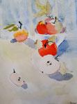 Pommes de Hugo 7,5 ans (aquarelle)