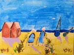 Les bretonnes de Nassim, 9 ans et demi (acrylique sur toile)