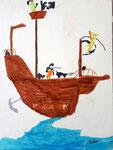Bateau pirate de Aaron, 8 ans