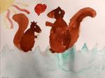 Aquarelle de Nina, 6 ans et demi