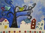 Lucie H., 7 ans et demi (aquarelle sur papier)