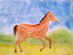 Cheval de Maélys, 8 ans (aquarelle)