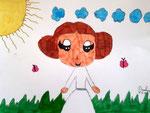 """""""Léia pop"""", dessin aux feutres, Pauline, 6 ans et demi"""