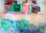 """""""Le bateau aux voiles multicolores"""", Jules, 4 ans (aquarelle sur papier)"""