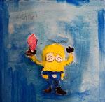 """""""Mignon"""" de Clément, 6,5 ans (acrylique sur toile)"""