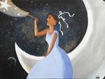 Acrylique sur toile de Salomé, 11 ans