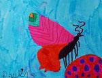 Papillon, feutres de Pauline 5 ans et demi
