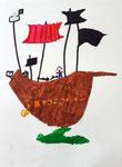 Bateau pirate de Clément, 6 ans