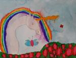 Licorne de Aaron, 8 ans (aquarelle)