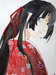 Manga de Emily, 12 ans et demi (aquarelle)