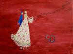 Acrylique sur toile de Laure, 14 ans