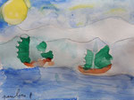 Aquarelle de Pauline, 6 ans