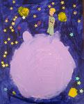 Le Petit Prince, Mélodie 5 ans (acrylique sur carton toilé)