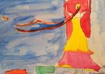 Gabrielle, 8 ans et demi, aquarelle sur papier