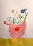 Bouquet à la gouache de Nawfel, 6 ans