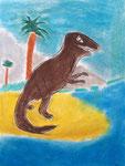 Dinosaure de Clément, 8 ans pastel