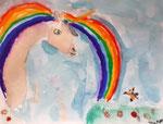 Licorne de Manon, 6 ans (aquarelle)
