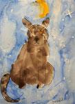 chat de Nawfel, 6 ans (acrylique)