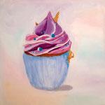 Cup Cake de Méline, 11 ans (acrylique sur toile)