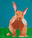Acrylique sur toile de Benjamin, 7,5 ans