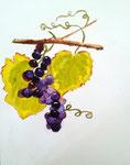 Grappes de raisin de Lilimay, 10 ans (aquarelle)