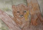 Dessin aux crayons aquarellables de Pauline 7 ans