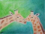 Girafe, pastel de Manon, 10 ans et demi