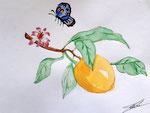 Aquarelle de Méline, 11 ans