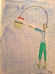 Romane, 15 ans, aquarelle sur papier