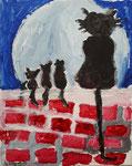 Acrylique sur toile de Benjamin, 6 ans et demi