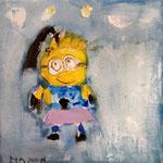 """Mignon"" de Manon, 6 ans (acrylique sur toile)"