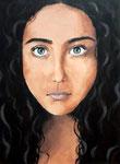 Portrait à l'acrylique de Emma B., 17 ans