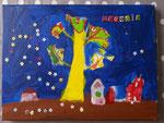 Paysage de Mélodie, 5 ans (acrylique sur toile)
