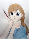 Manga de Lucie, 10 ans (aquarelle)