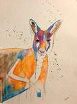 Dessin aux crayons et feutres aquarellables de Laure, 15 ans