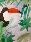 Toucan de Laure, 13 ans, aquarelle