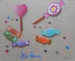 Acrylique sur toile  Ana, 10,5 ans