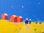 """""""Les bretonnes"""", (acrylique sur toile)"""