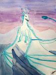 Dragon, aquarelle de Flora, 9 ans et demi
