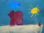 Ourson, pastel de Aaron, 6 ans et demi