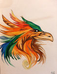 Dessin aux crayon set feutres  aquarellables de Audrey, 13 ans