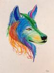 Dessin aux crayons et feutres aquarellables de Ella 11 ans