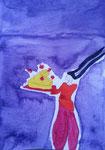 Clémence, 13 ans, aquarelle sur papier