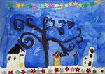 Clémence P., 9 ans (aquarelle sur papier)