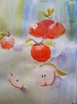 Pomme de Flora, 8,5 ans (aquarelle)